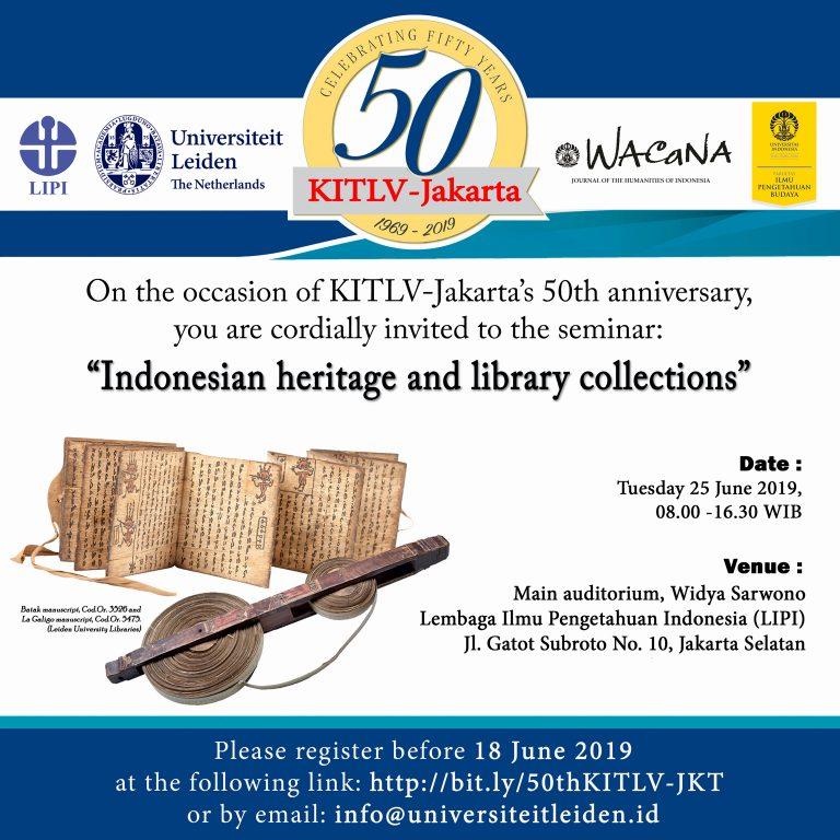 Hasil gambar untuk kitlv 50th anniversary